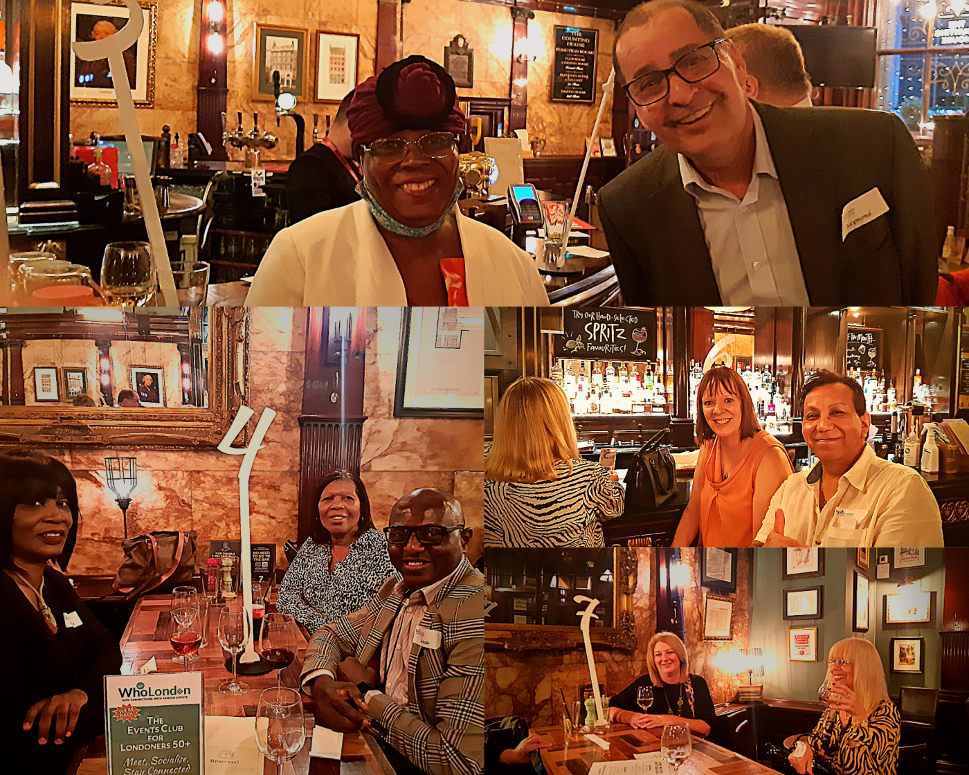 Relaunch Introductions event goers collage
